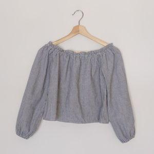 Brandy Melville 100% cotton off shoulder crop top